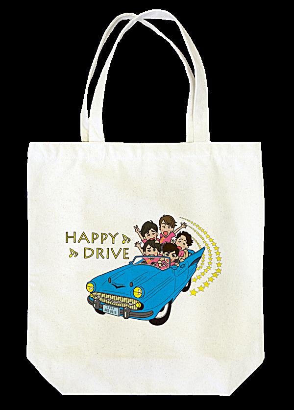 HAPPY DRIVE トートバッグ